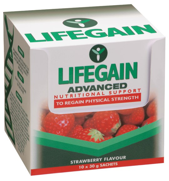 Lifegain Shake Sachets Strawberry - 10 x 30 g