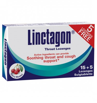 Linctagon Lozenges Cherry Menthol - 15's