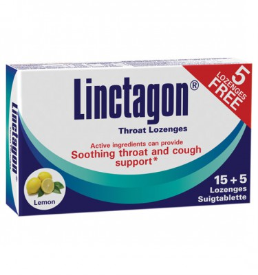 Linctagon Lozenges Lemon - 15's