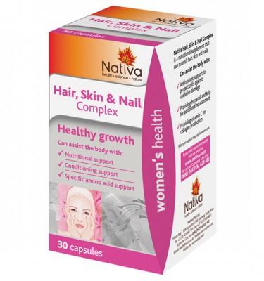 Nativa Hair, Skin & Nail Complex Capsules - 30's