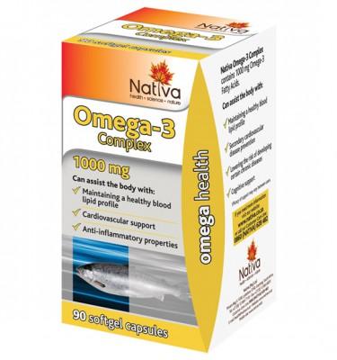 Nativa Omega-3 Complex Softgel Capsules - 90's