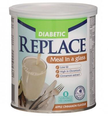 Replace Diabetic Shake Apple Cinnamon - 425 g