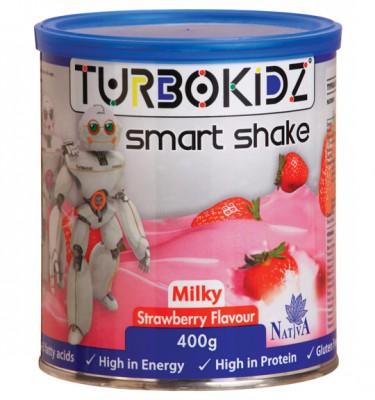 TurboKidz Smart Milky Shake Strawberry - 400 g