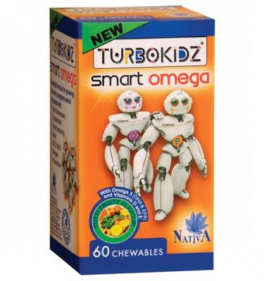 TurboKidz Smart Omega Chewables Tutti Fruity - 60's