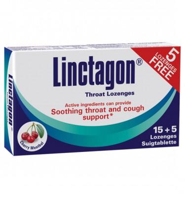 Linctagon Lozenges Cherry Menthol - 15's