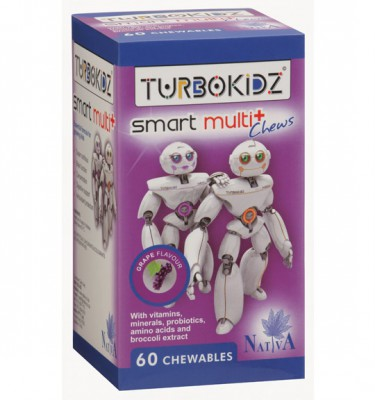 TurboKidz Smart Multi Chews Grape - 60's